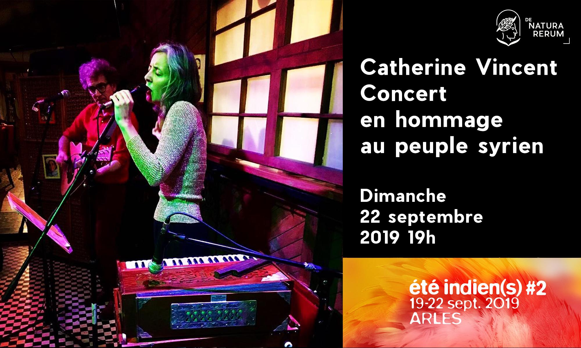 Catherine Vincent, concert en hommage au peuple syrien, De natura rerum, septembre 2019, été indien(s), Arles