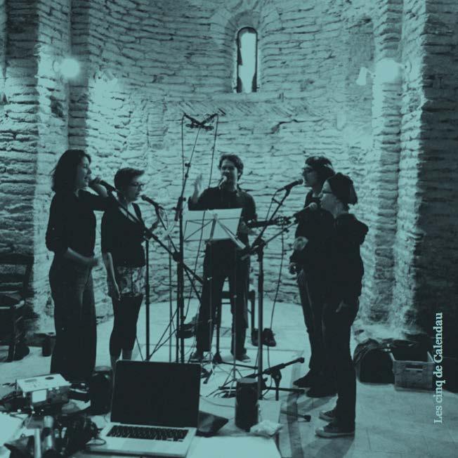 Enregistrement de Calendau, adapté de Frédéric Mistral par Henri Maquet, dans l'église de Lamelouze.