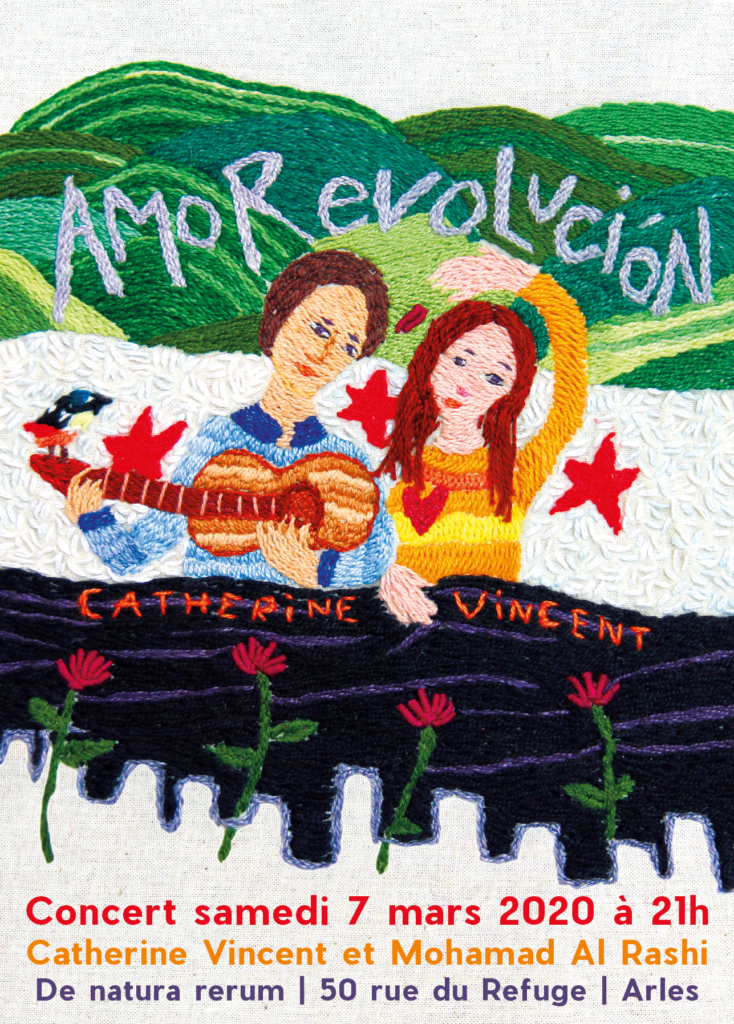 Amorevolucion. Concert de Catherine Vincent et Mohammad Al Rashi à Arles chez De natura rerum, samedi 7 mars 2020