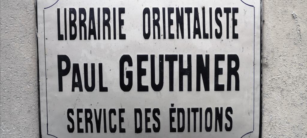 librairie Geuthner chez De natura rerum