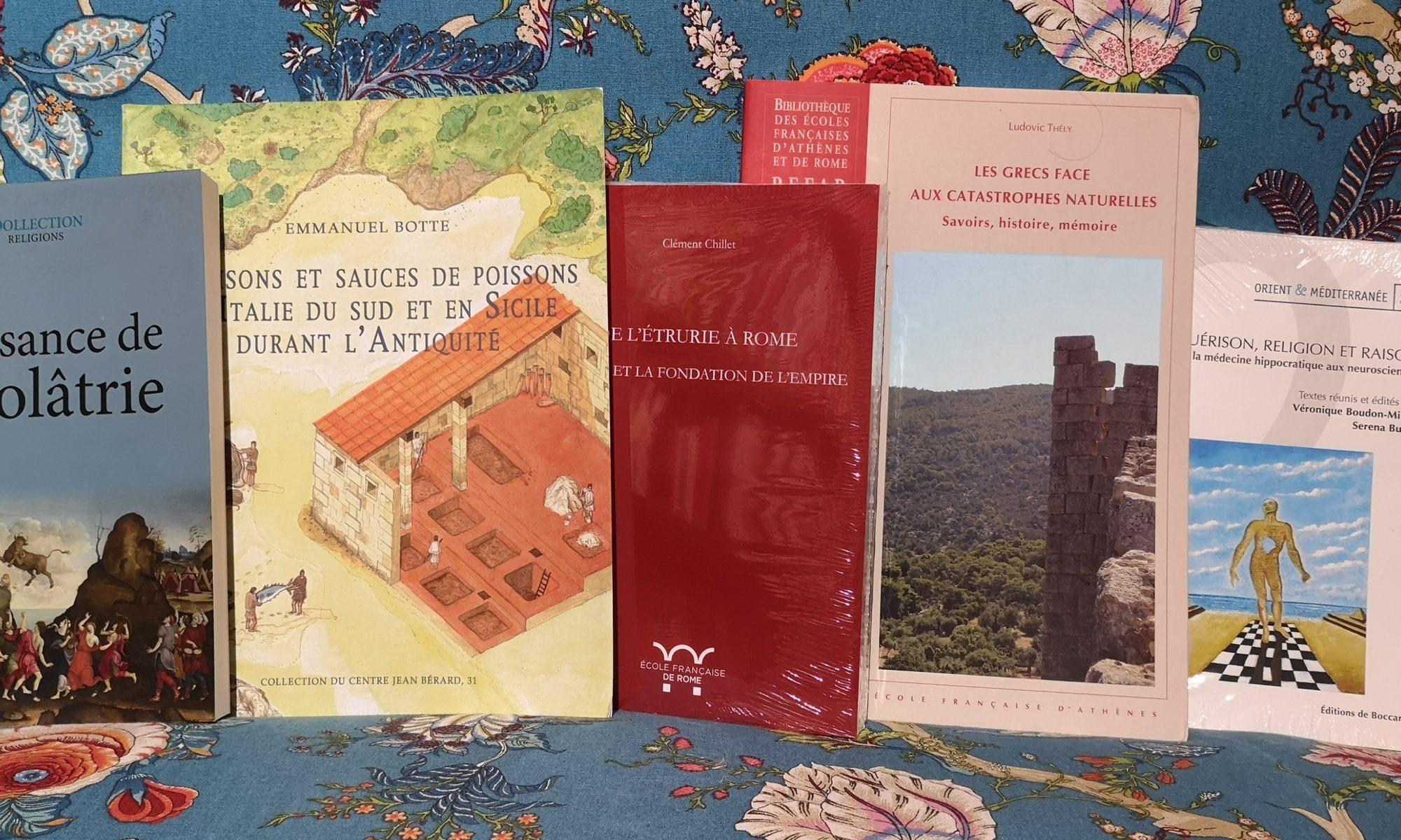 De Boccard, Ecole française de Rome, Ecole française d'Athènes.... chez De natura rerum