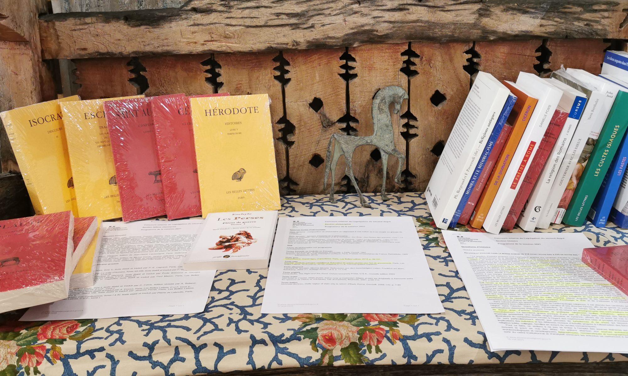 des livres pour les agrégatifs chez De natura rerum